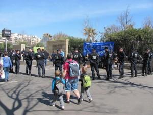 Protesta en apoyo a los detenidos en la apertura del Foro Mundial del Agua