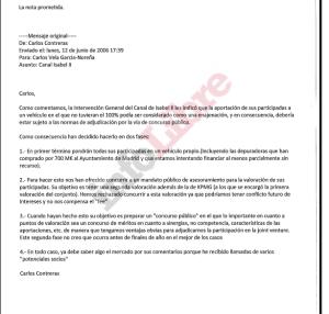 Mail Vela-Blesa CajaMadrid CYII